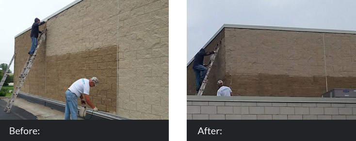 Waterproofing Before After